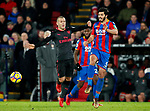 Crystal Palace's James Tomkins tussles with Arsenal's Jack Wilshere during the premier league match at Selhurst Park Stadium, London. Picture date 28th December 2017. Picture credit should read: David Klein/Sportimage