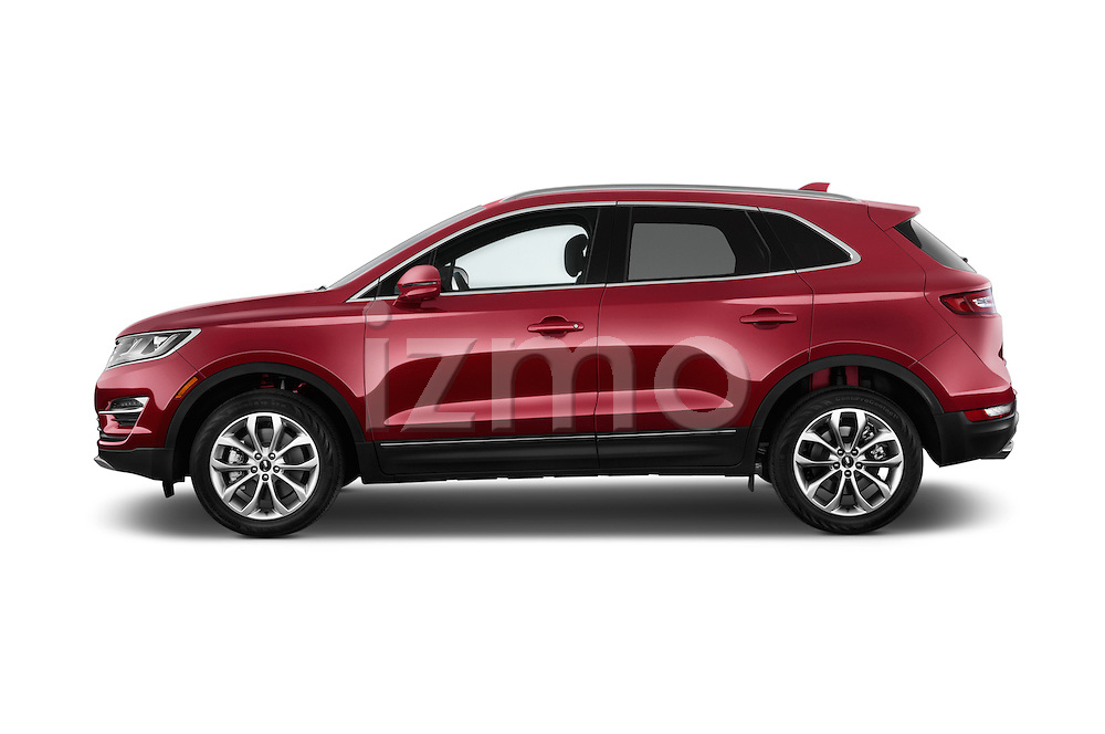 Car Driver side profile view of a 2015 Lincoln MKC FWD 5 Door SUV Side View