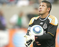 Nick Rimando #18 of the MLS All-Stars during the 2010 MLS All-Star match against Manchester United at Reliant Stadium, on July 28 2010, in Houston, Texas. Manchester United won 5-2.