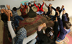 Palestinian children take a yoga lesson which organized by the center for Mind- Body Medicine, in Gaza city on January 10, 2018. The Center for Mind-Body Medicine is a non- profit, educational organization founded in Washington in 1991, and Gaza Program was established in 2005 to help people deal with their ongoing trauma result by the continual war and embargo and targets all community segments with Mind-Body Skills and provides psychosocial. Photo by Ashraf Amra