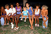 Juruena, Mato Grosso State, Amazon, Brazil; group of settlers' children of mixed races.
