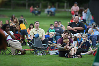 NWA Democrat-Gazette/J.T. WAMPLER The audience watches as Opera in the Ozarks presents Monkey See, Monkey Do at the Botanical Garden of the Ozarks in Fayetteville Tuesday June 5, 2019. The opera which is based on a Mexican folk tale is a one-act bilingual opera by composer Robert Xavier Rodriguez. It tells the story of a sombrero seller whose hats are stolen by a band of monkeys Ð and who cleverly manages to get them back, while, incidentally, winning the hand of a lady. Opera in the Ozarks will present Monkey See, Monkey Do at more than a dozen free or low cost performances held at area libraries and other community locations and open to the public. The next performance is today ((JUNE 5)) at the Rogers Public Library and Thursday at the Berryville Public Library.