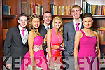 Pictured at the Listowel Debs in the Abbeygate Hotel on Saturday from left: Ian Delaney (Listowel), Kendra Broughan (Moyvane), Eddie Joe Walsh (Listowel), Clodagh Walsh (Listowel), Shane Stack (Moyvane) and Alice Neville (Listowel).