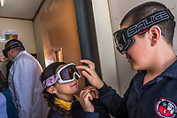 ANTARCTICA - NOVEMBER 27: Chilean children of naval officers attend the Villa Las Estrellas school on the 27th of November, 2015 in Villa LAs Estrellas, in the Fildes Peninsula on King George Island, Antarctica. <br /> <br /> Daniel Berehulak for The New York Times