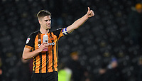 Hull City's Markus Henriksen ackowledges the fans at the final whistle<br /> <br /> Photographer Chris Vaughan/CameraSport<br /> <br /> The EFL Sky Bet Championship - Hull City v Sheffield Wednesday - Saturday 12th January 2019 - KCOM Stadium - Hull<br /> <br /> World Copyright &copy; 2019 CameraSport. All rights reserved. 43 Linden Ave. Countesthorpe. Leicester. England. LE8 5PG - Tel: +44 (0) 116 277 4147 - admin@camerasport.com - www.camerasport.com