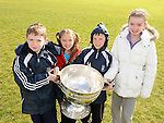 Lily, Eva, Hugh and Robert Murphy pictured with the Sam Maguire cup at Newtown Blues GAA club. Photo: Colin Bell/pressphotos.ie