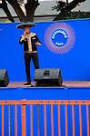 Country and Western singer, Candelaria 2016 fiesta, Gran Tarajal, Fuerteventura, Canary Islands, Spain