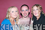 VICARS: Patricia.OConnell, Stephen.Rooney and Laura.OConnell, at the Vicars.and Tarts night in.the Cashen Bar, Ballybunion,.on Friday.