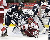 Jesse Root (Yale - 20), Marshall Everson (Harvard - 21) - The Yale University Bulldogs defeated the Harvard University Crimson 5-1 on Saturday, November 3, 2012, at Bright Hockey Center in Boston, Massachusetts.