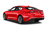 Car pictures of rear three quarter view of a 2018 KIA Stinger GT-Line 5 Door Hatchback angular rear