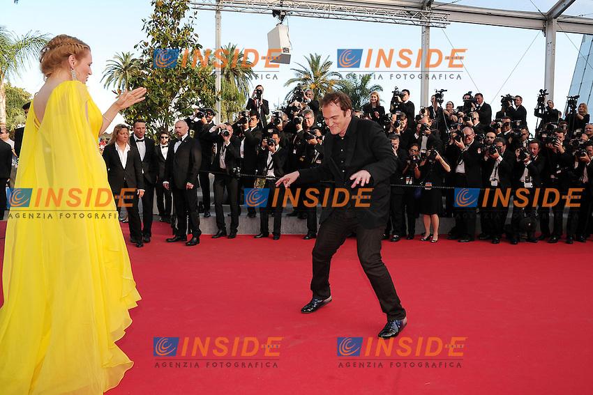 Uma Thurman - Quentin Tarantino  <br /> Festival del Cinema di Cannes 2014<br /> Foto Panoramic / Insidefoto