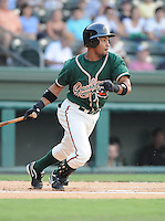 August 13, 2009: Infielder Smelin Perez (10) of the Greensboro Grasshoppers, Class A affiliate of the Florida Marlins, in a game at Fluor Field at the West End in Greenville, S.C. Photo by: Tom Priddy/Four Seam Images
