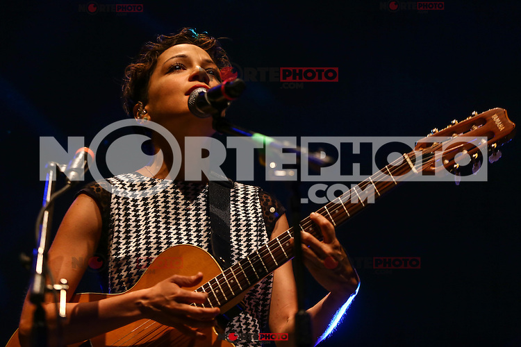 Maria Natalia Lafourcade Silva, better known as Natalia Lafourcade is a singer, songwriter and record producer, here during his concert at the Festival of Pitic in HermosilloSonora on 04/28/2015.<br />