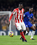 Mame Biram Diouf of Stoke City during the premier league match at Stamford Bridge Stadium, London. Picture date 30th December 2017. Picture credit should read: Robin Parker/Sportimage