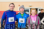 Shane and David Spillane with Ann Kelly killarney atthe Puck Warriors Duathlon in Killorglin on Saturday
