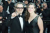 CANNES, FRANCE - MAY 17: Gary Oldman &amp; Gisele Schmidt attends the screening of 'Capharnaum' during the 71st annual Cannes Film Festival at Palais des Festivals on May 17, 2018 in Cannes, France. <br /> <br /> Picture: Kristina Afanasyeva/Featureflash/SilverHub 0208 004 5359 sales@silverhubmedia.com