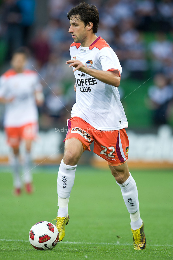 MELBOURNE, AUSTRALIA - DECEMBER 03: Thomas Broich of the Roar controls the ball during the round 17 A-League match between the Melbourne Victory and the Brisbane Roar at AAMI Park on December 3, 2010 in Melbourne, Australia. (Photo by Sydney Low / Asterisk Images)