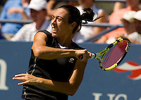 Francesca Schiavone (ITA) (26) against Victoria Azarenka (BLR) (8)  in the third round. Schiavone beat Azarenka 4-6 6-2 6-2..International Tennis - US Open - Day 3 Wed 02 Sep 2009 - USTA Billie Jean King National Tennis Center - Flushing - New York - USA ..© Frey, Advantage Media Network, Level 1, Barry House, 20-22 Worple Road, London, SW19 4DH +44 208 947 0100..