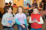 Laura Birch of Cartown, Ballymakenny, Maja Grzesiak - Jakimide and Emer Holden at the Valentine's Day Heart Art Workshop at the Droichead Arts Centre. Photo: Andy Spearman.