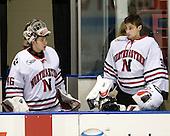 Bryan Mountain (NU - 46), Mike Binnington (NU - 30) - The Northeastern University Huskies defeated the Bentley University Falcons 3-2 on Friday, October 16, 2009, at Matthews Arena in Boston, Massachusetts.