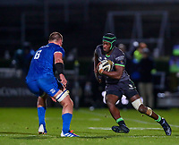 4th January 2020; RDS Arena, Dublin, Leinster, Ireland; Guinness Pro 14 Rugby, Leinster versus Connacht; Niyi Adeolokun (Connacht) steps inside Rhys Ruddock (Captain Leinster)  - Editorial Use