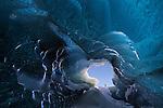 Crystal ice cave in Vatnajökull, Iceland