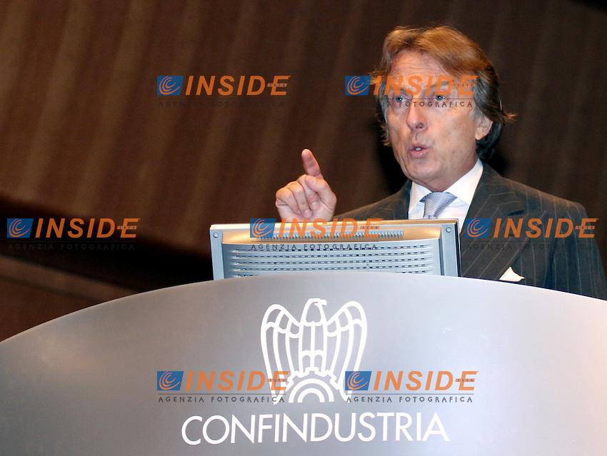 Roma, 25 maggio 2006: Assemblea Annuale Confindustria 2006.<br /> <br /> Nella foto: L'intervento di Luca Cordero di Montezemolo, Presidente di Confindustria<br /> <br /> Photo: Serena Cremaschi Insidefoto
