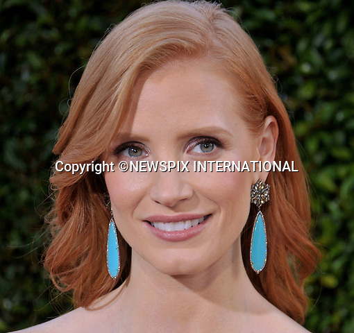 "JESSICA CHASTAIN.attends ""The Help"" World Premiere at the Samuel Goldwyn Theater, Beverly Hills, Westwood, Los Angeles_09/08/2011.Mandatory Photo Credit: ©Crosby/Newspix International. .**ALL FEES PAYABLE TO: ""NEWSPIX INTERNATIONAL""**..PHOTO CREDIT MANDATORY!!: NEWSPIX INTERNATIONAL(Failure to credit will incur a surcharge of 100% of reproduction fees).IMMEDIATE CONFIRMATION OF USAGE REQUIRED:.Newspix International, 31 Chinnery Hill, Bishop's Stortford, ENGLAND CM23 3PS.Tel:+441279 324672  ; Fax: +441279656877.Mobile:  0777568 1153.e-mail: info@newspixinternational.co.uk"