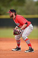 Illinois State Redbirds Mason Snyder (7) during a game against the Georgetown Hoyas on March 7, 2015 at North Charlotte Regional Park in Port Charlotte, Florida.  Illinois State defeated Georgetown 2-1.  (Mike Janes/Four Seam Images)