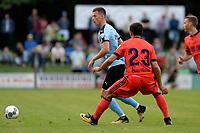HAREN - Voetbal, FC Groningen - Real Sociedad, voorbereiding seizoen 2017-2018, 02-08-2017,  FC Groningen speler Ajdin Hrustic met De La Bella
