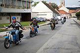 CZECH REPUBLIC,  Slavonice, Locals on mopeds