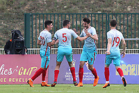 Kubilay Kanatsizkus (No 9) celebrates scoring Turkey U21's second goal during Portugal Under-19 vs Turkey Under-21, Tournoi Maurice Revello Football at Stade Parsemain on 3rd June 2018