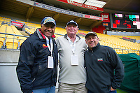 Skysport cameraman on day one of the 2016 HSBC Wellington Sevens at Westpac Stadium, Wellington, New Zealand on Saturday, 30 January 2016. Photo: Dave Lintott / lintottphoto.co.nz