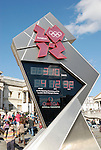 Olympic Games London 2012 countdown clock in Trafalgar Square