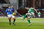 05.02.2020 Rangers v Hibs: James Tavernier and Lewis Stevenson