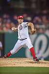 20 September 2013: Washington Nationals pitcher Jordan Zimmermann on the mound against the Miami Marlins at Nationals Park in Washington, DC. Zimmermann pitched a complete-game  2-hit shutout as the Nationals defeated the Marlins 8-0 to take the second game of their 4-game series. Mandatory Credit: Ed Wolfstein Photo *** RAW (NEF) Image File Available ***