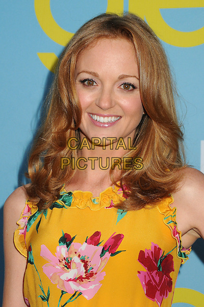 "Jayma Mays.""Glee"" Academy Screening and Q&A held at the A.T.A.S. Leonard H. Goldenson Theatre, North Hollywood, California, USA..May 1st, 2012.headshot portrait yellow pink floral print  .CAP/ADM/BP.©Byron Purvis/AdMedia/Capital Pictures."