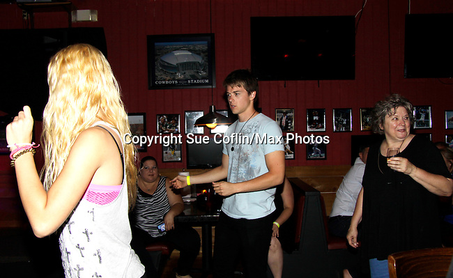 Chad Duell dances at 15th Southwest Florida Soapfest 2014 Charity Weekend with a Bartending/Karaoke get together on May 26, 2104 at Porky's, Marco Island, Florida. (Photo by Sue Coflin/Max Photos)