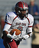Glen Cove running back No. 3 Tim Hogan rushes for an 80-yard touchdown during the first quarter of the Nassau County varsity football Conference III final against Plainedge at Hofstra University on Saturday, Nov. 21, 2015.<br /> <br /> James Escher