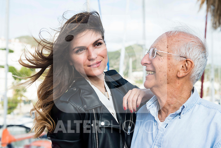 Italian actress Carlotta Morelli and Italian director Ruggero Deodato pose to the media at the photocall in the port at Festival de Cine Fantastico de Sitges in Barcelona. October 11, Spain. 2016. (ALTERPHOTOS/BorjaB.Hojas)