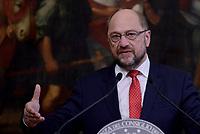 Roma, 27 Luglio 2017<br /> Il presidente del Partito socialdemocratico tedesco Martin Schulz a Palazzo Chigi