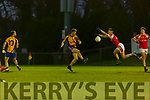 Ciaran Kennedy Beaufort last kick of the game shot is brilliantly bocked down by Sean Howard Dromtarriffe to send the final into extra time during the Munster Junior final in Mallow on Sunday