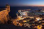 Alicante city from Santa Barbara Castle Alicante province, Valencian Community, Spain