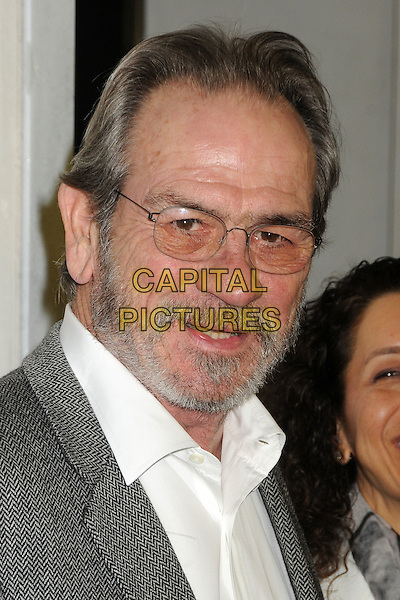 Tommy Lee Jones .Tom Ford Cocktail Party held at the Tom Ford Store, Beverly Hills, California, USA..February 21st, 2013.headshot portrait white shirt grey gray suit jacket glasses beard facial hair .CAP/ADM/BP.©Byron Purvis/AdMedia/Capital Pictures.