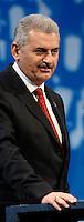 International Transport Forum - Weltverkehrsforum - CCL Neue Messe Leipzig - internationaler Austausch zu globalen Logistik und Wirtschaft - im Bild:  Binali Yildirim (Verkehrsminister Türkei)  Foto: Norman Rembarz..