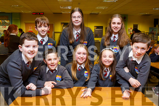 Representing Fenit National School at the ISTA Primary Schools Annual Science Quiz in the IT Tralee South Campus on Thursday night last were front l-r: Conor O'Sullivan, Mark O'Connor, Kia Collins, Aoife O'Brien and Donagh Murphy. Back l-r: Maurice Lenihan, Ava McCann and Lisa Cassidy.