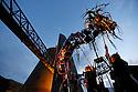 25/07/13 - SAINT OURS LES ROCHES - PUY DE DOME - FRANCE - La troupe Elixir lors des Nocturnes de Vulcania - Photo Jerome CHABANNE
