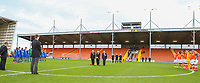 Veterans, players and officials observe a minute of silence before the match<br /> <br /> Photographer Alex Dodd/CameraSport<br /> <br /> The EFL Sky Bet League One - Blackpool v Portsmouth - Saturday 11th November 2017 - Bloomfield Road - Blackpool<br /> <br /> World Copyright &copy; 2017 CameraSport. All rights reserved. 43 Linden Ave. Countesthorpe. Leicester. England. LE8 5PG - Tel: +44 (0) 116 277 4147 - admin@camerasport.com - www.camerasport.com