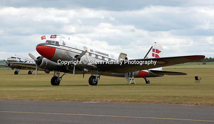 Douglas C-47A Dakota, OY-BPB, in Danish Air Force markings at the 75th Anniversary of the D-Day Landings, Duxford, United Kingdom, 5th June 2019. Photo by Glenn Ashley Photography