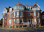 Large Edwardian mansion subdivided into flats, Felixstowe, Suffolk, England